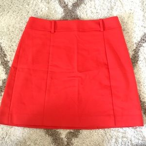 Express orange/red skirt. Like new